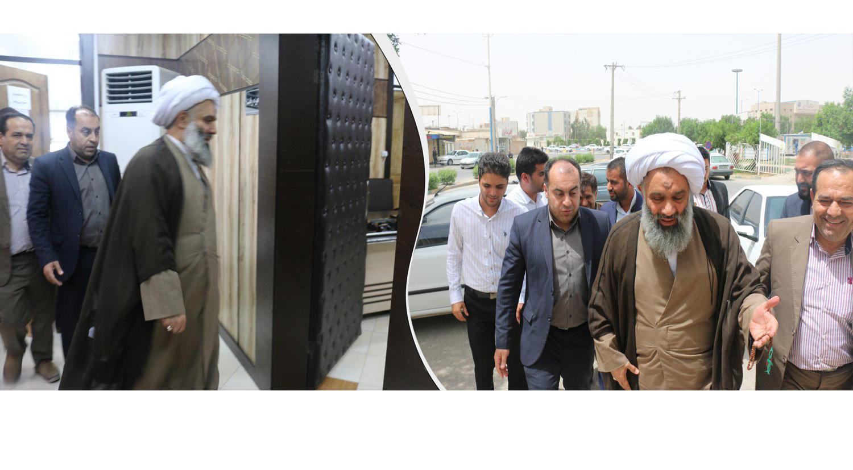 بازدید حضرت آیت الله فرحانی از مرکز آموزش عالی علمی کاربردی شهرداری اهواز