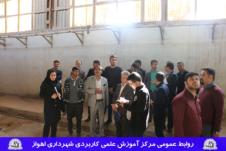 بازدید دانشجویان مرکز آموزش علمی کاربردی شهرداری اهواز از کارخانه فارسیت اهواز