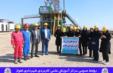 بازدید دانشجویان مرکز آموزش علمی کاربردی شهرداری اهواز از روند کار دکل نفتی ۸۵ فتح