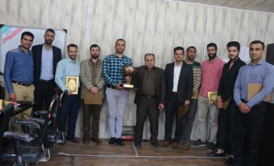 مراسم تجلیل از بازیکنان و کادر فنی تیم والیبال مرکز علمی کاربردی شهرداری اهواز